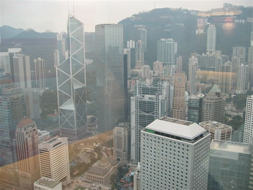Hong Kong from the 55th floor of 2IFC