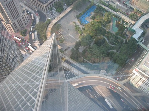 Looking down from Bank of China
